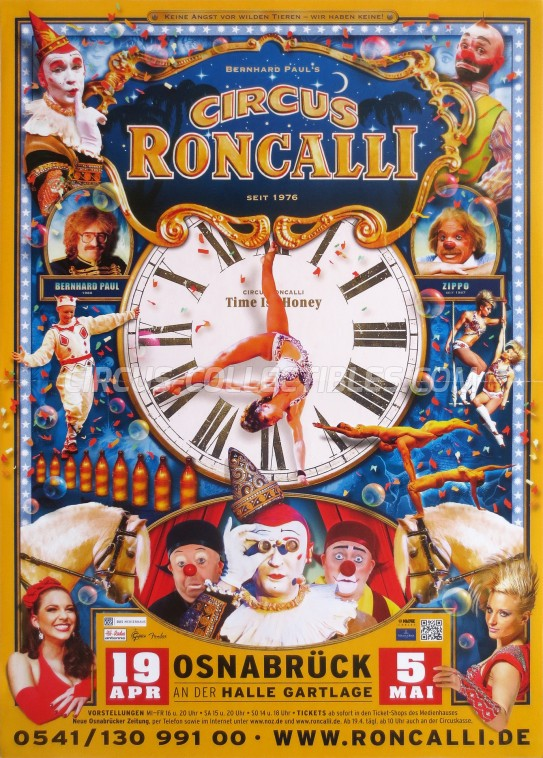Roncalli Circus Poster - Germany, 2013