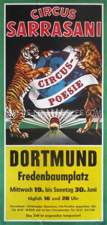 Sarrasani Circus Poster - Germany, 1984