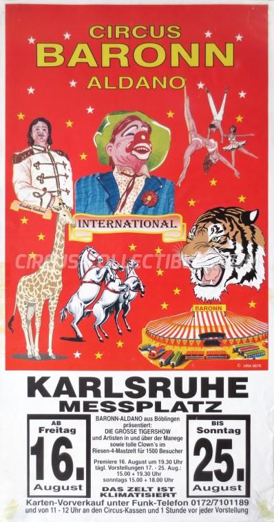 Baronn Aldano Circus Poster - Germany, 1996