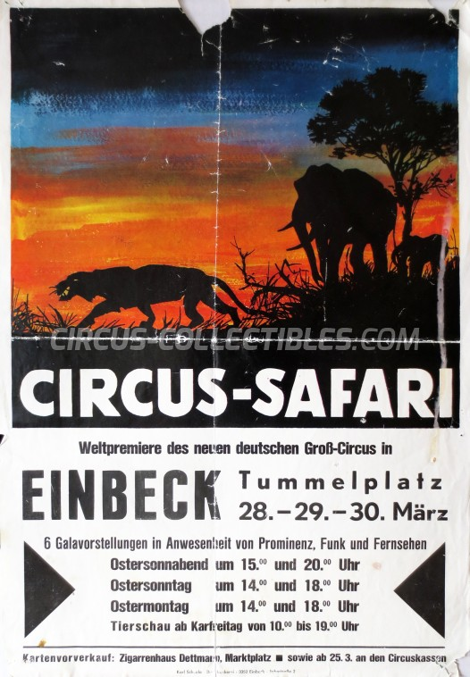 Safari Circus Poster - Germany, 1970