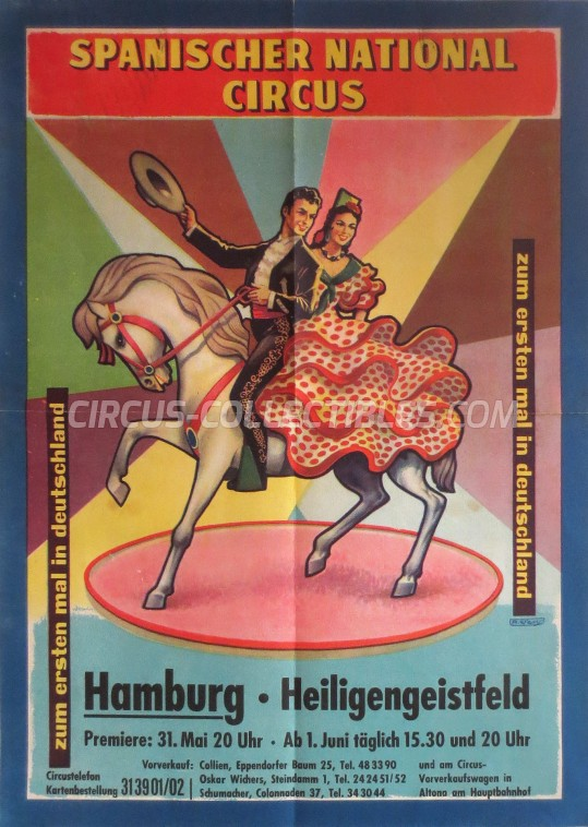 Spanischer National Circus Circus Poster - Germany, 1962