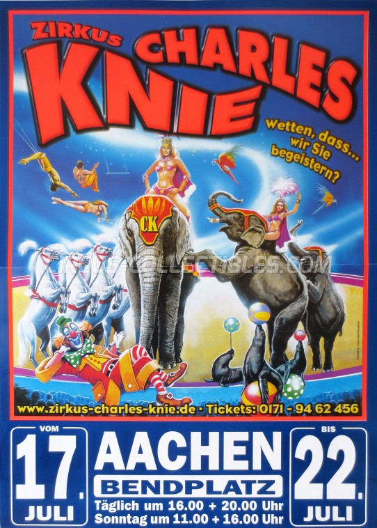 Charles Knie Circus Poster - Germany, 2012