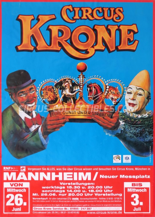 Krone Circus Poster - Germany, 2013