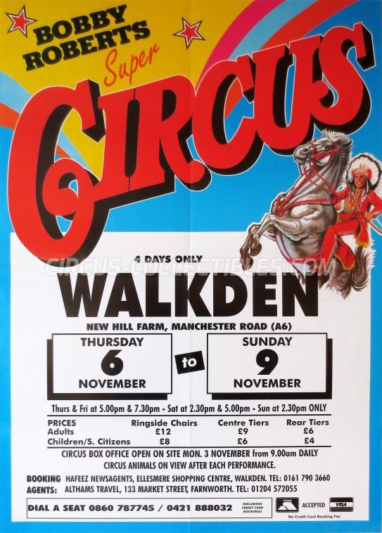 Bobby Roberts Super Circus Circus Poster - England, 1996