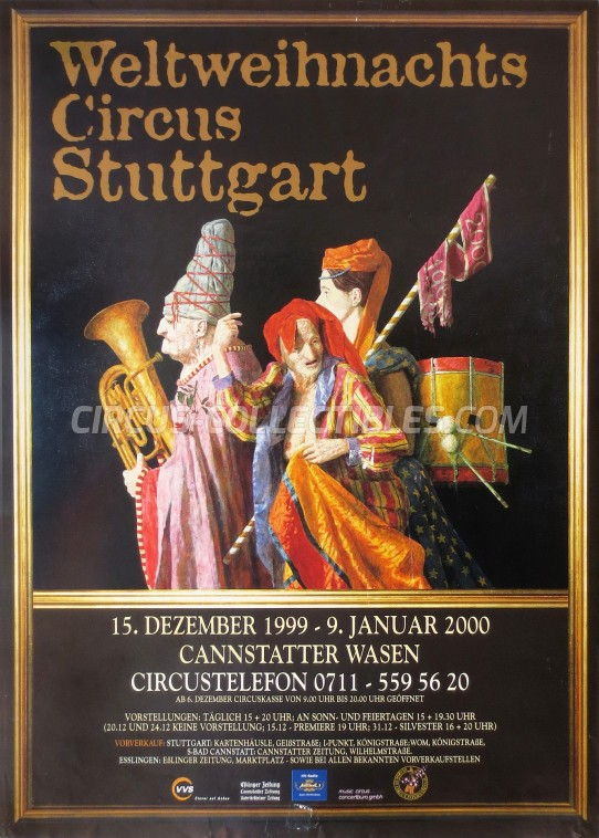Weltweihnachts Circus Stuttgart Circus Poster - Germany, 1999