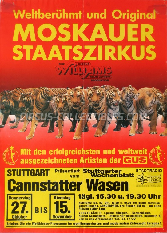 Althoff-Williams Circus Poster - Germany, 1988