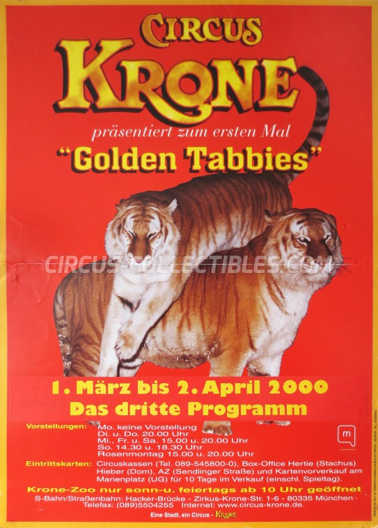 Krone Circus Poster - Germany, 2000