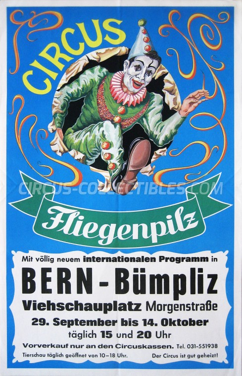 Fliegenpilz Circus Poster - Germany, 1987