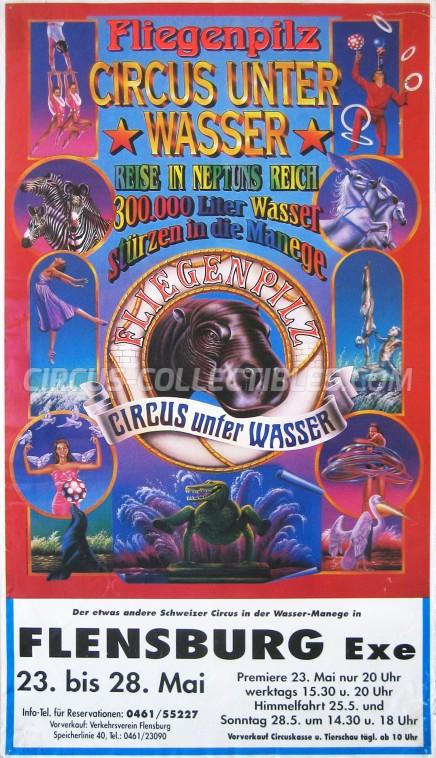 Fliegenpilz Circus Poster - Germany, 1999