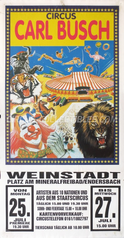 Carl Busch Circus Poster - Germany, 1994