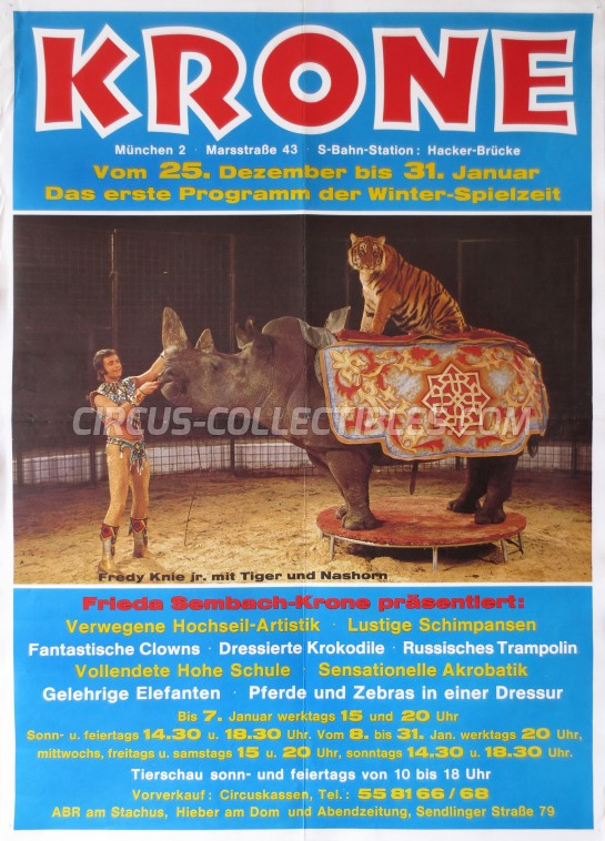 Krone Circus Poster - Germany, 1980