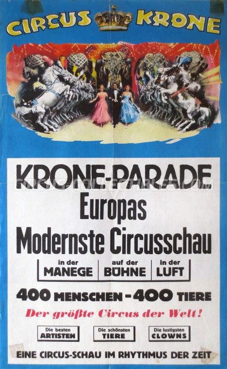 Krone Circus Poster - Germany, 1961
