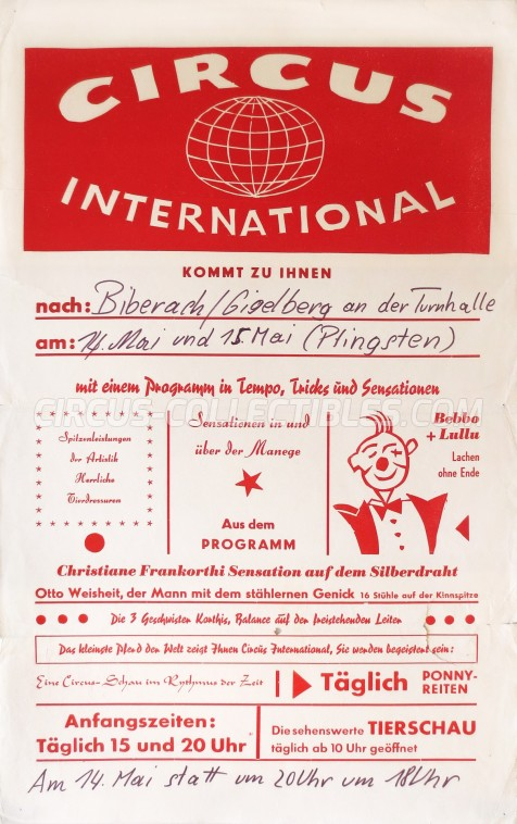 International Circus Poster - Germany, 0