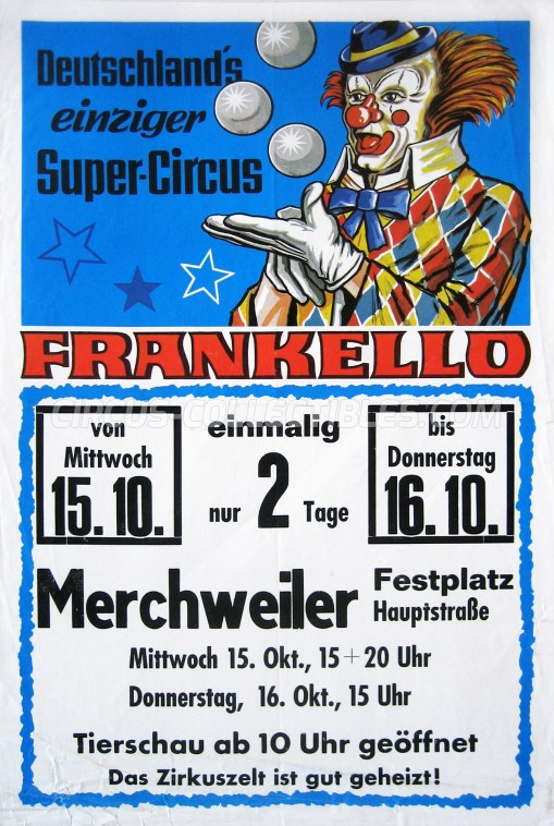 Frankello Circus Poster - Germany, 1986