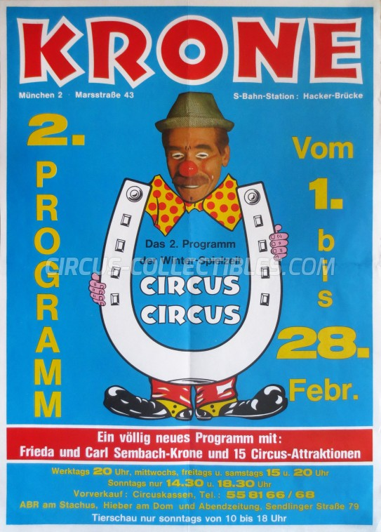 Krone Circus Poster - Germany, 1982