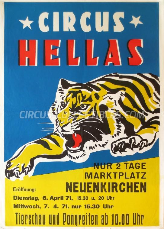 Hellas Circus Poster - Germany, 1971