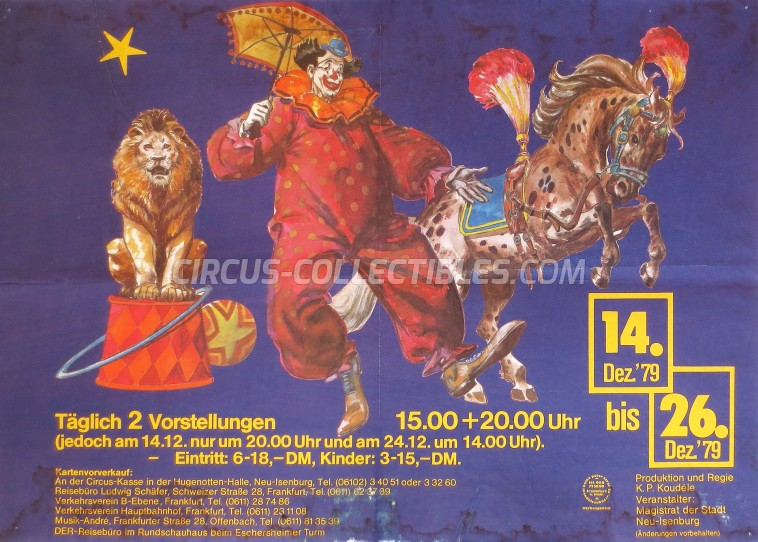 Unknown Circus Poster - Germany, 1979