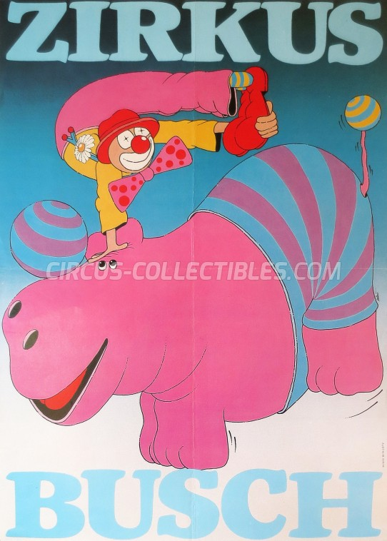 Busch Circus Poster - Germany, 1988