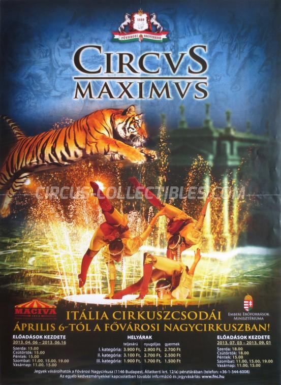 Fovarosi Nagycirkusz Circus Poster - Hungary, 2013