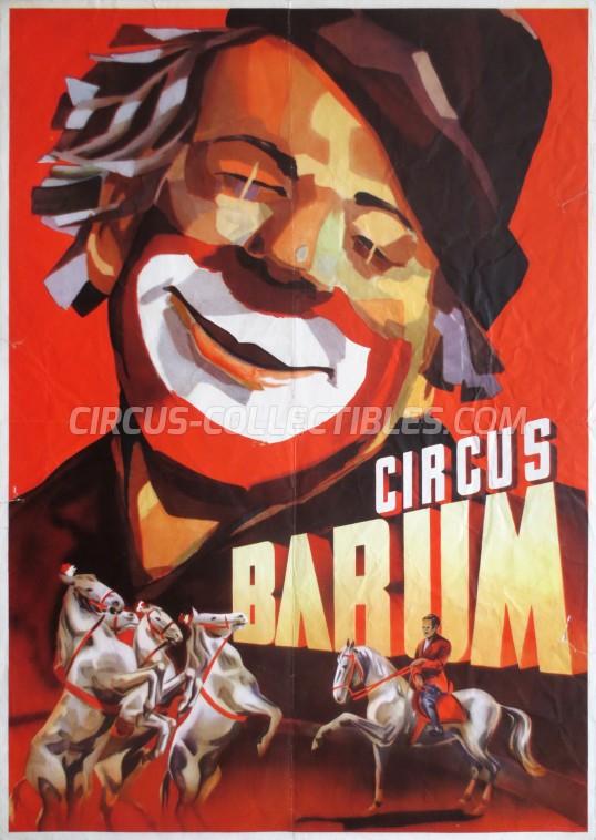 Barum Circus Poster - Germany, 1956