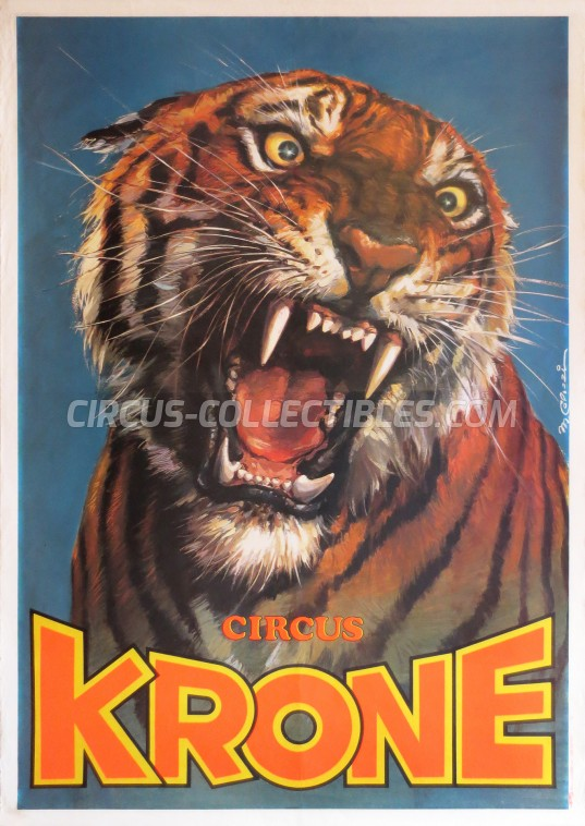 Krone Circus Poster - Germany, 1984