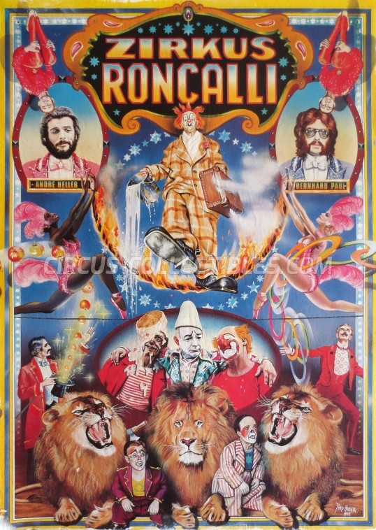 Roncalli Circus Poster - Germany, 1976