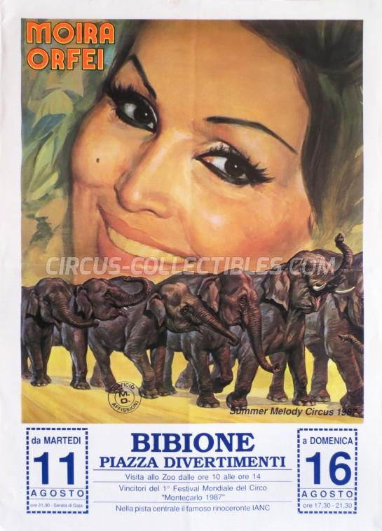 Moira Orfei Circus Poster - Italy, 1987