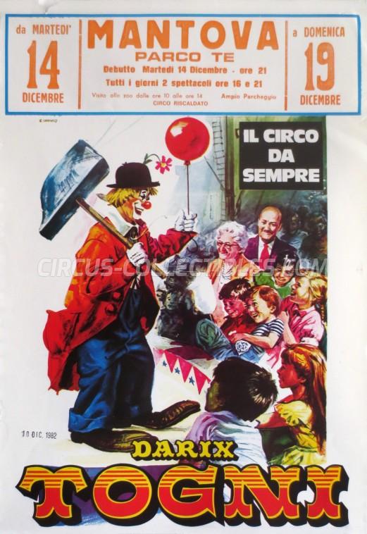 Darix Togni Circus Poster - Italy, 1982