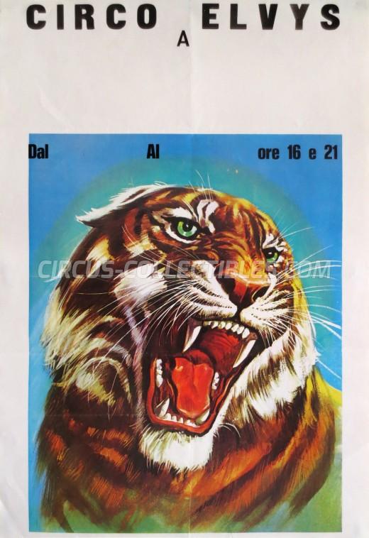 Elvys Circus Poster - Italy, 1990