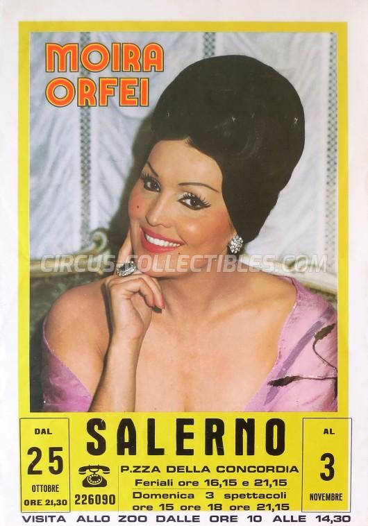 Moira Orfei Circus Poster - Italy, 1986