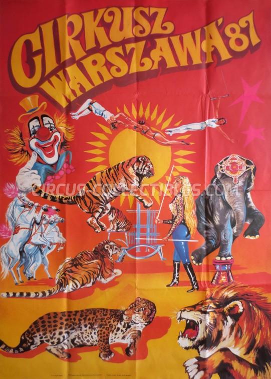 Warszawa Circus Poster - Poland, 1987