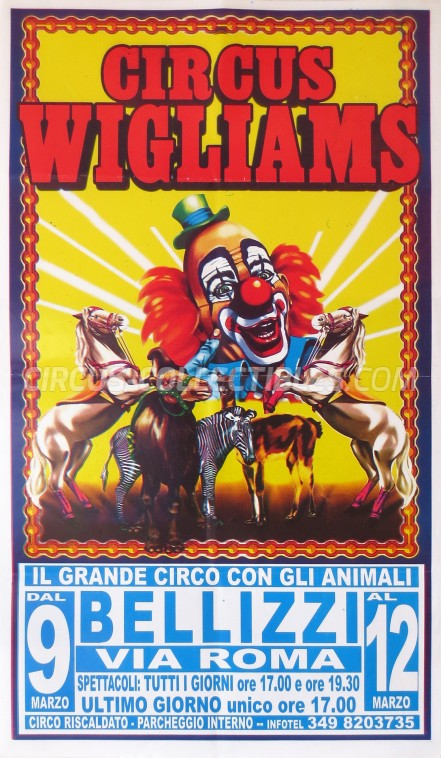 Wigliams Circus Poster - Italy, 0