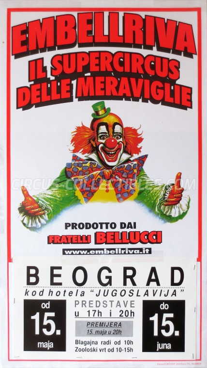 Embell Riva Circus Poster - Italy, 2003
