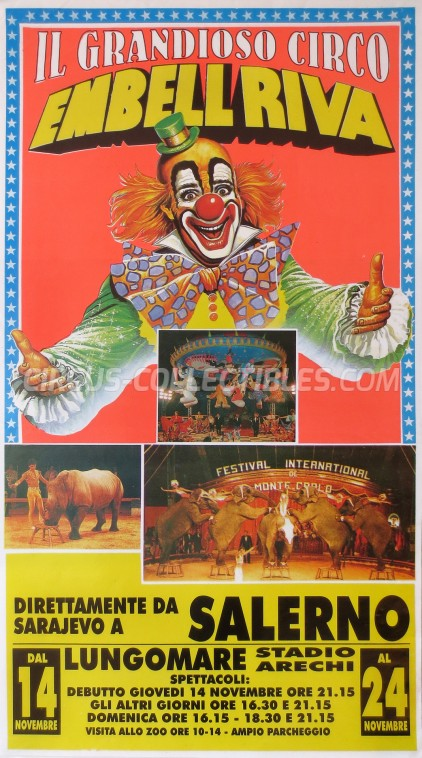 Embell Riva Circus Poster - Italy, 1996