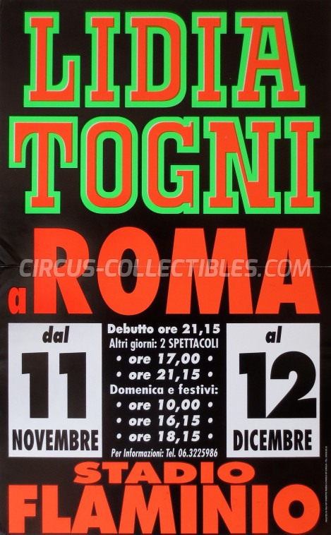 Lidia Togni Circus Poster - Italy, 1999