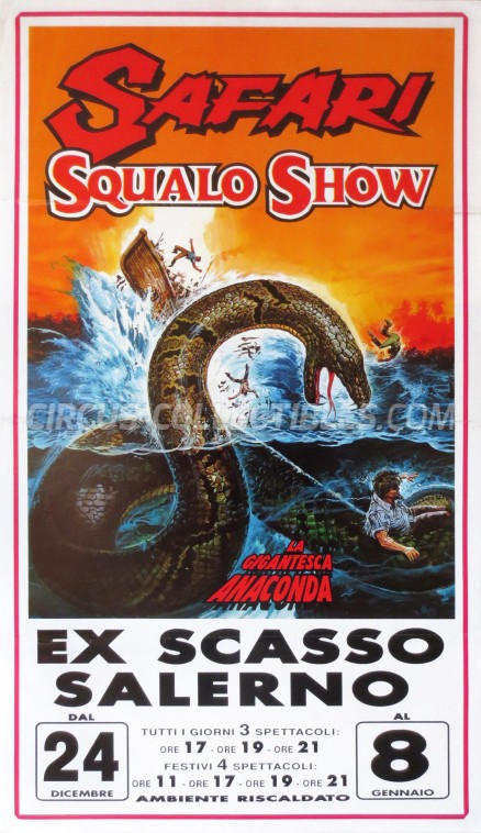Safari Squalo Show Circus Poster - Italy, 2000