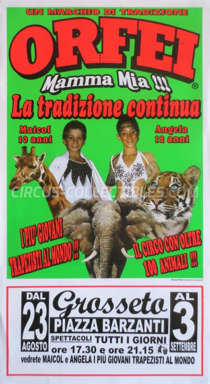 Orfei Circus Poster - Italy, 0