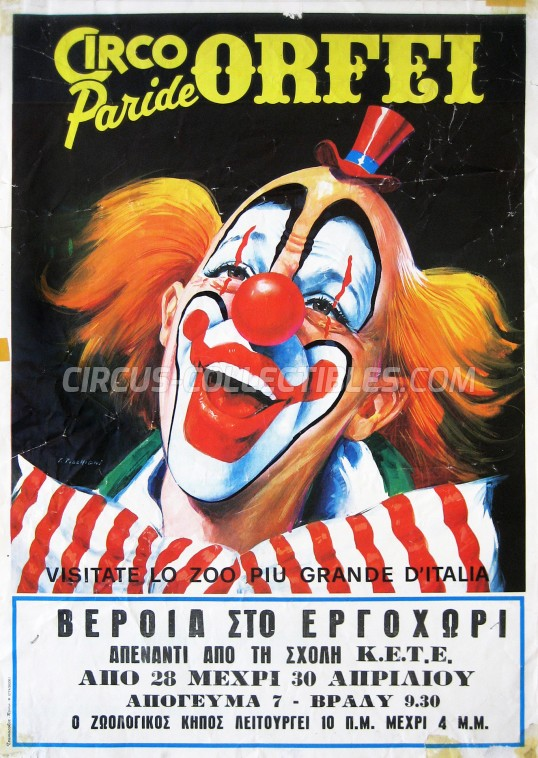 Paride Orfei Circus Poster - Italy, 1986