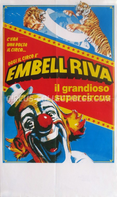 Embell Riva Circus Poster - Italy, 1989