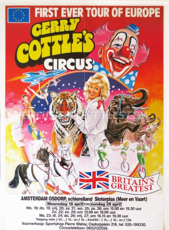 Gerry Cottle's Circus Circus Poster - England, 1990