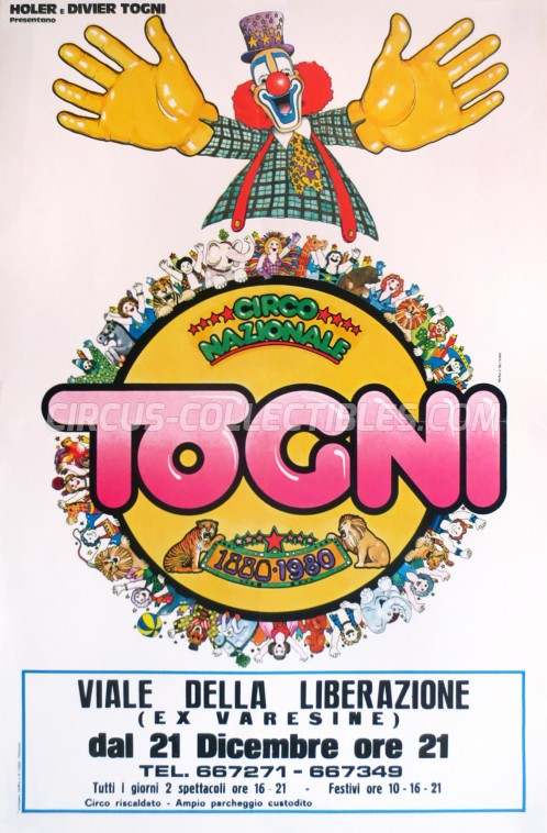 Togni Circus Poster - Italy, 1980