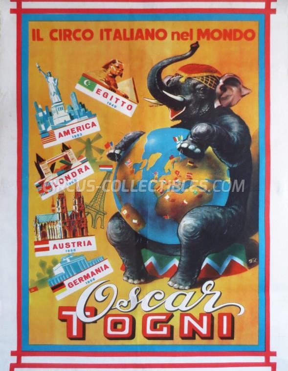 Oscar Togni Circus Poster - Italy, 1960