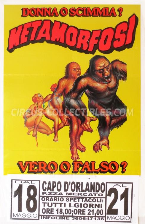 Crazy Show Circus Poster - Italy, 2002