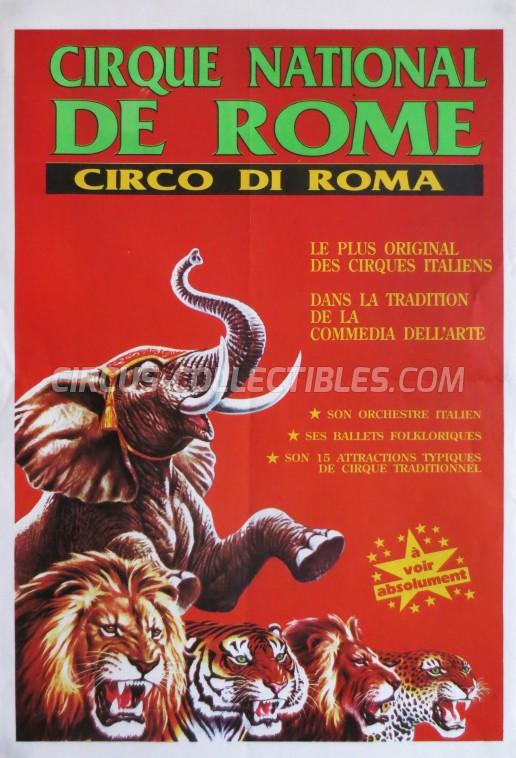 Circo di Roma Circus Poster - Italy, 1991