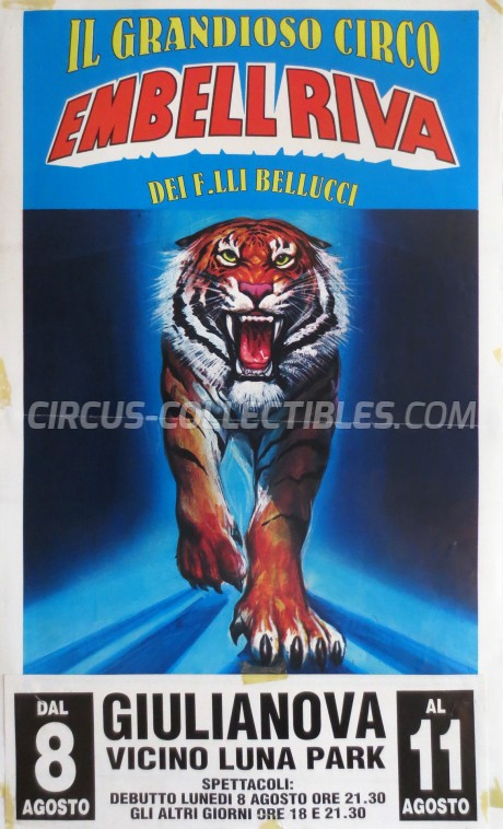 Embell Riva Circus Poster - Italy, 1994