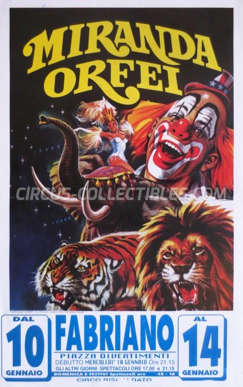 Miranda Orfei Circus Poster - Italy, 2001