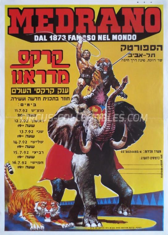 Medrano (Casartelli) Circus Poster - Italy, 1992