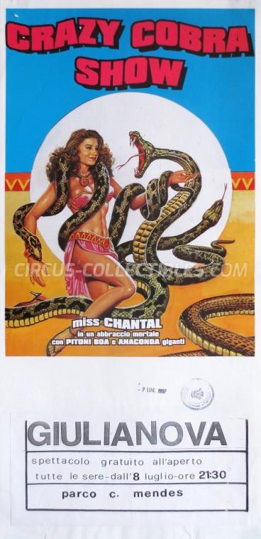 Crazy Show Circus Poster - Italy, 1997