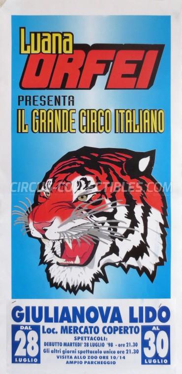 Luana Orfei Circus Poster - Italy, 1998