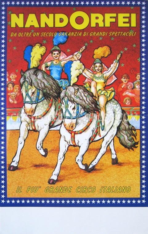 Nando Orfei Circus Poster - Italy, 1996
